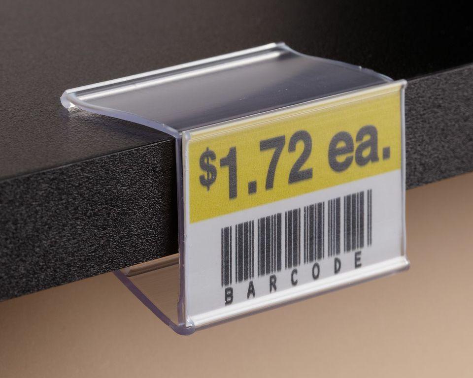 Info Strip Label Holder For Wood Shelving On Kinter K