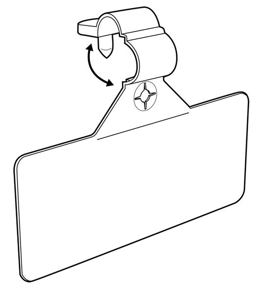 Wire Rack Label Holder | Part 107206 Label Holder For Wire Fixtures 3 1 2 W Natural On