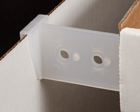 Clip-On Corrugated Shelf Supports, Vertical, Standard