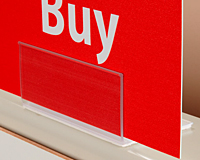 L Style Sign Holder With Adhesive