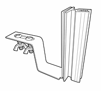 Under-Shelf Hardware-Mount Gripper Sign Holder - 2