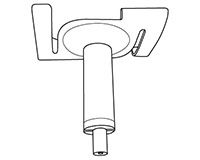 Ceiling Twist Side Exit Cable Adjuster - 2