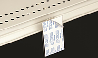 Flush Mount Adapter With Adhesive With Under Shelf Spring Mount Base