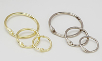 Hinged Snap Rings - Brass & Nickel