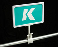 K-Frame Spring Clip-On Rotating Thumb Sign Holder