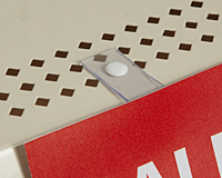 Perf Shelf Flush Sign Holder With Adhesive