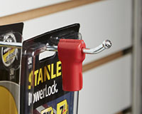 Red Peg Hook Anti-Theft Stop Lock
