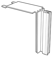 Shelf-Top Gripper Sign Holder - Metal - 2