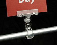 Spring Clip-On Two-Way Ratcheting Sign Holder