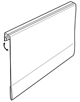 Universal Info Strip Hinged Covered-Face Sign Holder - 2