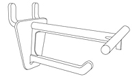 Pegboard/Slatwall Display Hooks With T-Scan Bar - 2