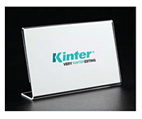 Acrylic Slantback Sign Holder