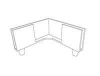 Corner Style Rigid Display Feet - 2