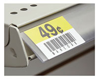 Angled Economy Info Strip Label Holder