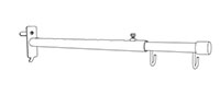 Telescopic Double-Hook Aisle Sign Holder - Gondola - 2