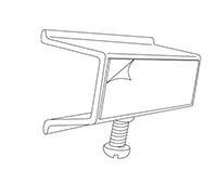 Shelf Channel Adapter With Screw - 2