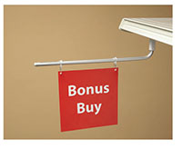 Magnetic Adjustable Double-Hook Aisle Sign Arm - 3