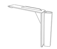 K-Frame Plastic Shelf-Top Holder - 2