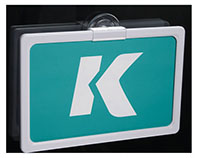K-Frame Flush Suction Cup Holder
