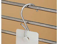 "Perf Shelf ""S"" Hook, Pinched - 3"