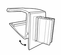 Hinged Gripper Square Shelf Flag Sign Holder - 2