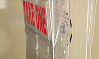 Take-One Outdoor Literature Holder - Suction Cups Sold Separately