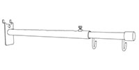 telescopic-double-hook-aisle-sign-holder-drawing