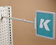K-Frame Telescopic Pegboard/Slatwall Aisle Holder