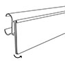 "Flip-Up Double Wire Shelf Info Strip With ""C"" Channel - 2"
