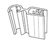 Gripper Hinged Flag Sign Holder For Wire - 2