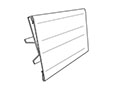 "Hinged ""C"" Channel Covered-Face Sign Holder - 2"