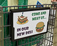 K-Ads® Shopping Cart Sign Frame
