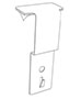 Merchandising Strip Hanger For Cooler Door - 2