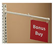 Telescopic Double-Hook Aisle Sign Holder - Gondola