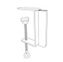 "K-Frame ""C"" Clamp Aisle Holder - 2"