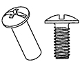 Steel Barrel Bolts & Screws 10-24 - 2