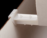 Clip-On Corrugated Shelf Supports, Horizontal, Heavy Duty