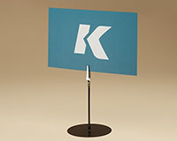 Freestanding Sign Holder With Spring Clip
