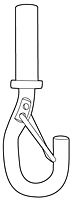 Fixed Style Cable End - Snap Hook - 2