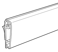 Front Load Plastic Sign Frame Rail - 2