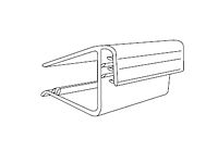 Gripper Square Shelf Flush Sign Holder - 2