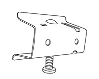 Metal Mini Shelf Channel Adapter with Screw - 2