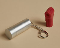 Silver Peg Hook Anti-Theft Magnetic Key