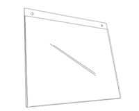 Rigid Covered Sign Holder With Holes - 2