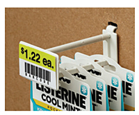 Corrugated/Wire Combo Display Hooks With Scan Plate