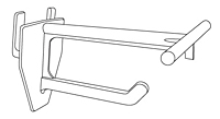 Corrugated Universal Display Hooks With T-Scan Bar - 2