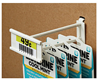 "Corrugated/Wire Combo Display Hooks With ""C"" Channel"