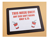 Counter Mat Sign Holder