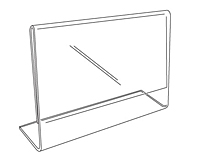 Acrylic Slantback Sign Holder - 2