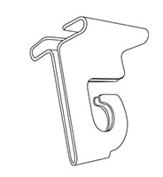 One-Piece Folding Aluminum Ceiling Hook - 2